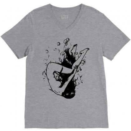 Drowning V-neck Tee Designed By Sbm052017