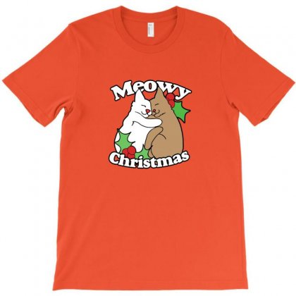 Meowy Christmas T-shirt Designed By Willo
