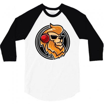 Lion Music 3/4 Sleeve Shirt Designed By Daudart