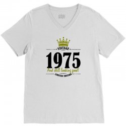 vintage 1975 and still looking good V-Neck Tee | Artistshot