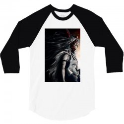 wolf anime 3/4 Sleeve Shirt   Artistshot