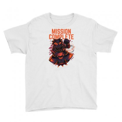 Mission Complete Youth Tee Designed By Daudart
