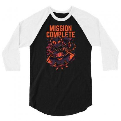 Mission Complete 3/4 Sleeve Shirt Designed By Daudart