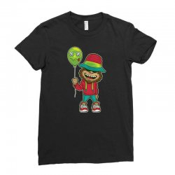 monkey happy with balloon Ladies Fitted T-Shirt | Artistshot