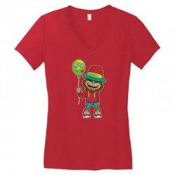 monkey happy with balloon Women's V-Neck T-Shirt | Artistshot