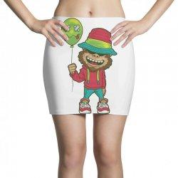 monkey happy with balloon Mini Skirts | Artistshot