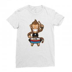 monkey metal crash drummer Ladies Fitted T-Shirt | Artistshot
