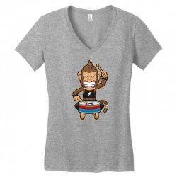 monkey metal crash drummer Women's V-Neck T-Shirt | Artistshot