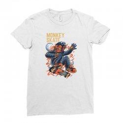 monkey skate Ladies Fitted T-Shirt | Artistshot