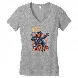 monkey skate Women's V-Neck T-Shirt | Artistshot