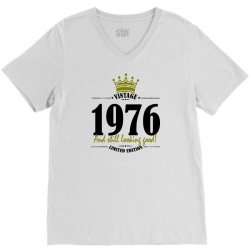 vintage 1976 and still looking good V-Neck Tee | Artistshot