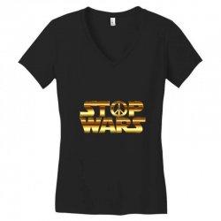 Stop war Women's V-Neck T-Shirt   Artistshot