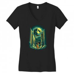 moon Women's V-Neck T-Shirt | Artistshot