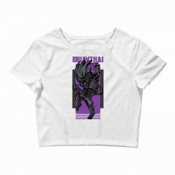muaythai game Crop Top | Artistshot