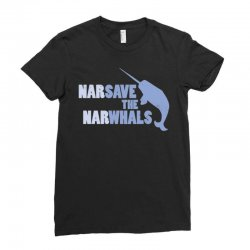 narsave the narwhales Ladies Fitted T-Shirt | Artistshot