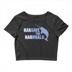 narsave the narwhales Crop Top | Artistshot