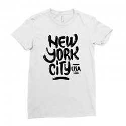 new york city usa (4) Ladies Fitted T-Shirt | Artistshot