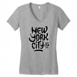 new york city usa (4) Women's V-Neck T-Shirt | Artistshot