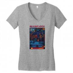 ninja night hunter Women's V-Neck T-Shirt | Artistshot