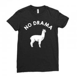 no drama llama Ladies Fitted T-Shirt   Artistshot