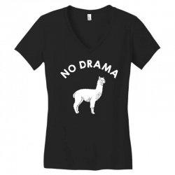 no drama llama Women's V-Neck T-Shirt   Artistshot