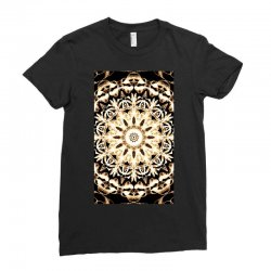 Modern Glowing Floral Art Design Ladies Fitted T-Shirt | Artistshot