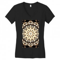 Modern Glowing Floral Art Design Women's V-Neck T-Shirt | Artistshot