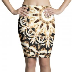 Modern Glowing Floral Art Design Pencil Skirts | Artistshot