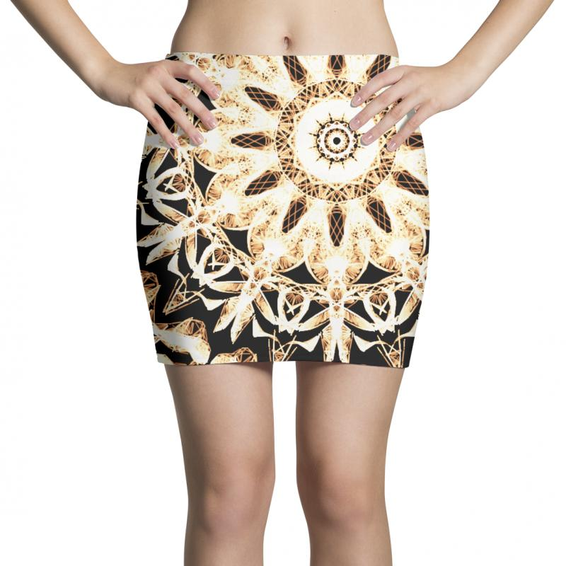 Modern Glowing Floral Art Design Mini Skirts | Artistshot