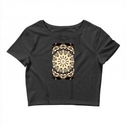 Modern Glowing Floral Art Design Crop Top | Artistshot