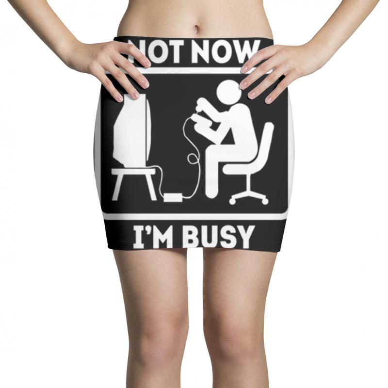 Not Now I'm Busy Mini Skirts | Artistshot