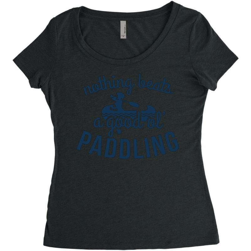 Nothing Beats A Good Ole Paddling Women's Triblend Scoop T-shirt | Artistshot