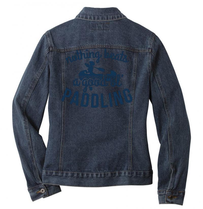 Nothing Beats A Good Ole Paddling Ladies Denim Jacket | Artistshot