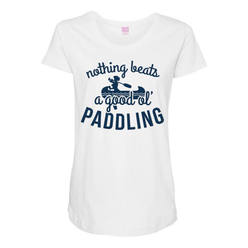 Nothing Beats A Good Ole Paddling Maternity Scoop Neck T-shirt | Artistshot