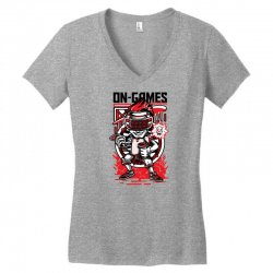 on games Women's V-Neck T-Shirt   Artistshot
