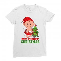 My First Christmas 2019 Ladies Fitted T-Shirt | Artistshot