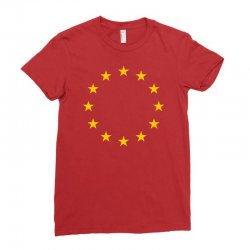 the flag of europe Ladies Fitted T-Shirt | Artistshot