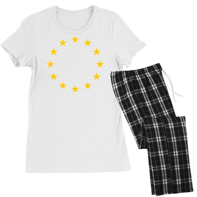 The Flag Of Europe Women's Pajamas Set | Artistshot