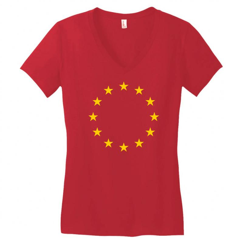 The Flag Of Europe Women's V-neck T-shirt | Artistshot