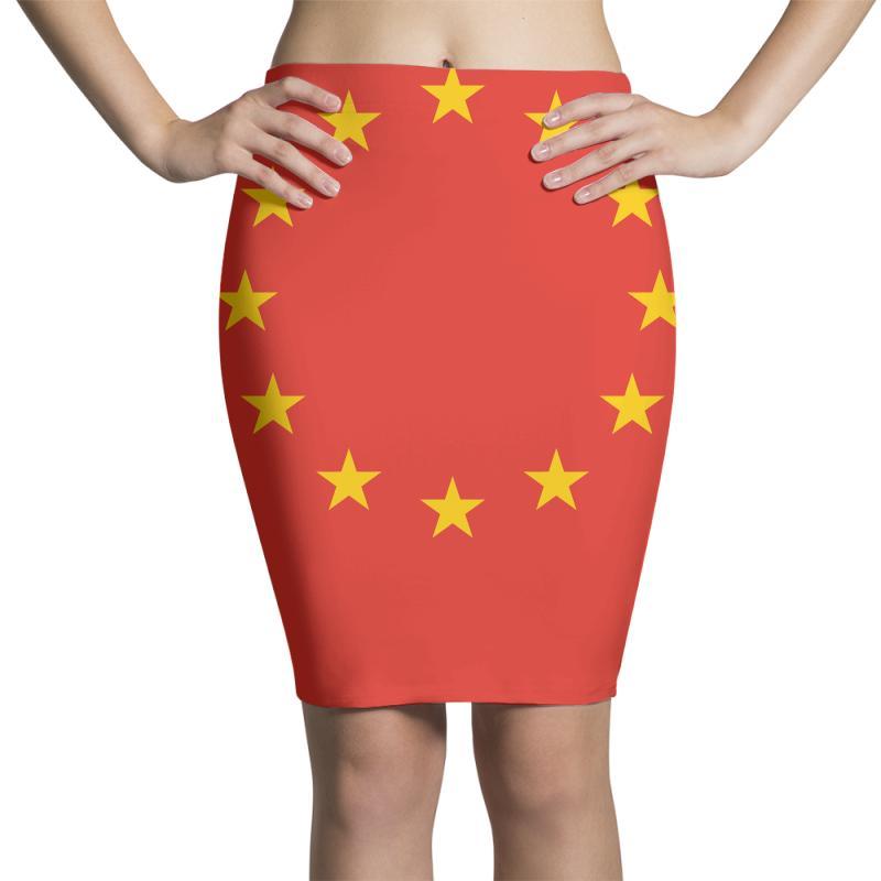 The Flag Of Europe Pencil Skirts   Artistshot