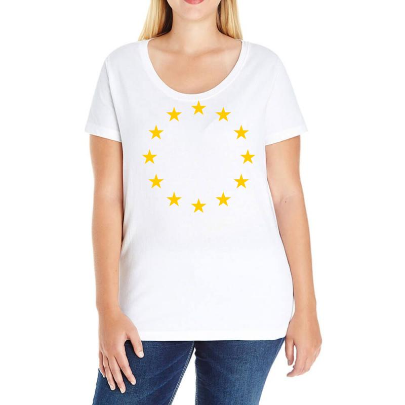 The Flag Of Europe Ladies Curvy T-shirt | Artistshot