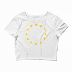 the flag of europe Crop Top | Artistshot