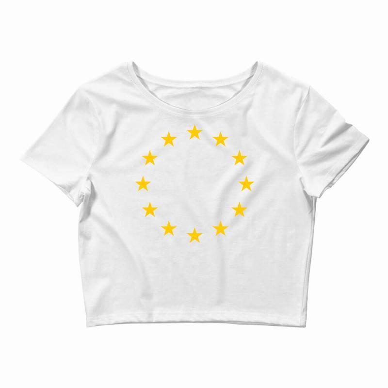 The Flag Of Europe Crop Top | Artistshot