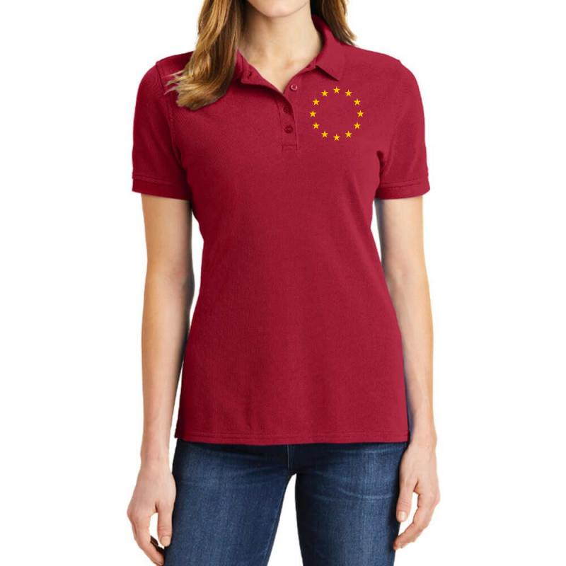 The Flag Of Europe Ladies Polo Shirt | Artistshot