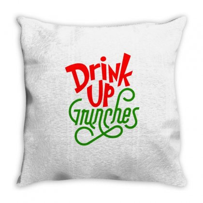 Drink Up Grinches Throw Pillow Designed By Tiococacola