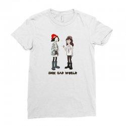 sad world Ladies Fitted T-Shirt | Artistshot