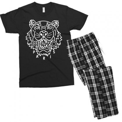 Kenzo White Tiger Men's T-shirt Pajama Set Designed By Meganphoebe