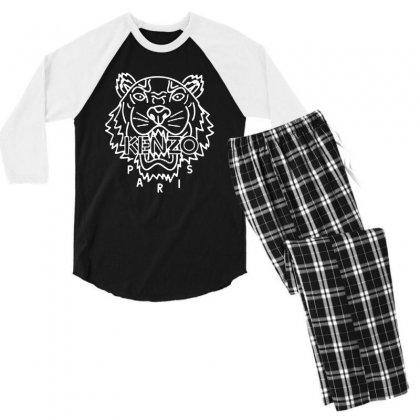 Kenzo White Tiger Men's 3/4 Sleeve Pajama Set Designed By Meganphoebe