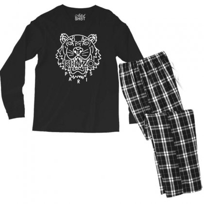 Kenzo White Tiger Men's Long Sleeve Pajama Set Designed By Meganphoebe