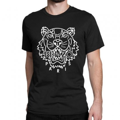 Kenzo White Tiger Classic T-shirt Designed By Meganphoebe